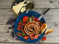 Italiensk Salsiccia med sprø spekeskinke