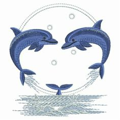 Clearance on this Circle of Dolphins embroidery design!