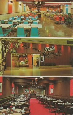 Bloomfield PONTIAC MALL Location MI INTERIOR 1960s TEDS RESTAURANT in 1950 a drive-in hangout for teens in the northern suburbs Hiogh End 1970s & 80s Dating Couples Joint