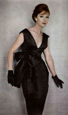 Jacques Heim Satin Cocktail Dress - 1959