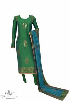 Pretty peacock combination gold print suit Salwar Kameez, Kurti, Indian Fashion, Womens Fashion, Gold Print, Indian Ethnic Wear, Punjabi Suits, The Chic, Anarkali