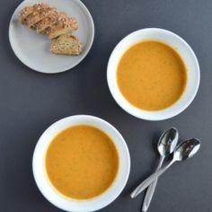 Carrot Sweet Potato Soup HealthyAperture.com