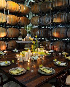Quantum Leap Winery Barrel Room