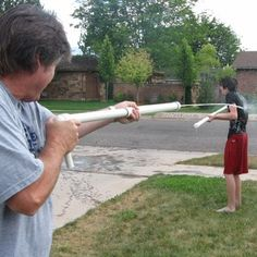 Easy $5 water guns out of pvc pipe