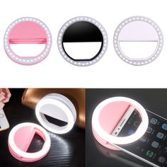 Super Bright Smartphone LED Ring Selfie Light Night Darkness Selfie Enhancing Photography Flash Ring Light