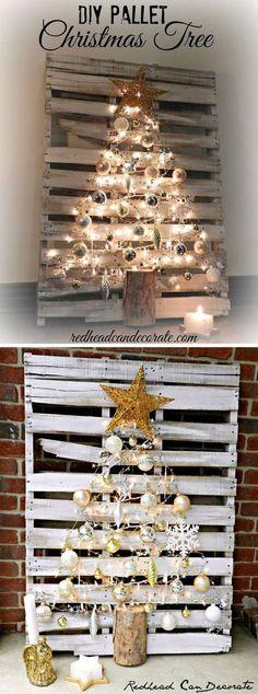 Transform a Pallet into a Christmas Tree