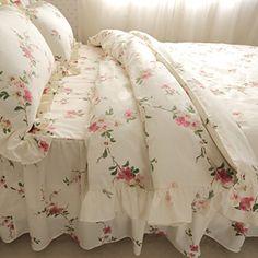 FADFAY Home TextileRomantic Floral Print Bedding SetElegant Shabby Bedding Set4Pcs Queen Size -- For more information, visit image link.