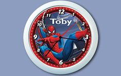 Personalized Spiderman Clock for Josiah's room