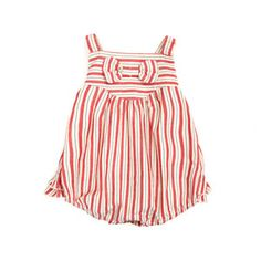 Little Duckling Red Striped Baby Romper