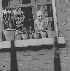"""""""A Dublin couple watching the world go by from their flat on York Street, via National Library of Ireland (cropped slightly by me.) The photo was taken by Elinor O' Brien Wiltshi… Moving Photos, Old Photos, The Scorpio Races, Images Of Ireland, Old Irish, Vintage Landscape, York Street, Irish Blessing, England And Scotland"""