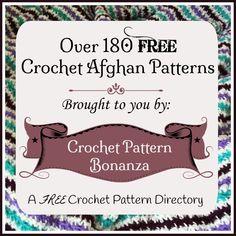 FREE Afghan Crochet Patterns: http://crochetpatternbonanza.com/category/afghans/
