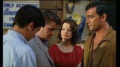 "Alain Delon, Billy Kearns, Romy Schneider and Maurice Ronet in ""Plein soleil"" (1960, René Clément)"
