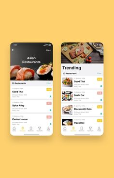 Foodiez Restaurant App UI Kit is a pack of 40 delicate UI design screen templates that will help you to design clear interfaces for restaurants app faster and easier. Compatible with Sketch App, Figma & Adobe XD Android App Design, App Ui Design, User Interface Design, Dashboard Design, Design Design, Mobile Application Design, Mobile Ui Design, Restaurant App, Restaurant Entrance