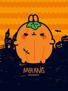 Halloween Doodle, Kawaii Halloween, Cute Halloween, Rabbit Season, Cute Little Drawings, Kawaii Bunny, Bunny Drawing, Pusheen Cat, Molang