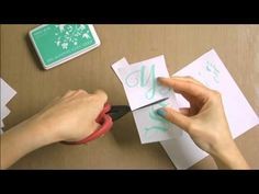 Monogrammed Thank You Cards - YouTube
