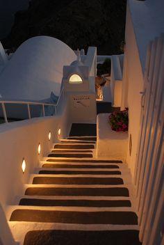 Night steps in caldera~Sandorini