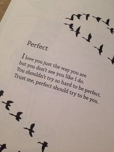 Perfect should try to be you