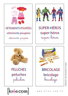 des étiquettes pour les boites a jouets Games For Kids, Diy For Kids, Activities For Kids, Montessori Classroom, Classroom Activities, Daycare Labels, Education Positive, Team Games, Be My Baby