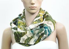 Green Infinity Scarf Green Scarf Psychedelic Scarf – Velvet Texture Loop Scarf Shawl Scarf – Summer Infinity Scarf Gift for her by FashionPopups