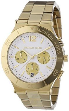 94b7aea4be20 Michael Kors Watch for Women Michael Kors Wyatt Chronograph White Dial Gold  Ionplated Ladies Watch MK5933