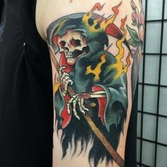 100 Most Unusual Grim Reaper Tattoo Designs awesome  Check more at http://fabulousdesign.net/grim-reaper-tattoos/