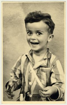 Heartbreaking, what a beautiful child: Studio portrait of Istvan Reiner, half-brother of the donor, taken shortly before he was killed in Auschwitz. [Photograph #54823] Full story at the link...