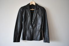 Genuine Leather Blazer