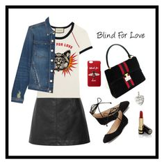 """Blind For Love"" by jacque-reid ❤ liked on Polyvore featuring Chloé, Gucci, L'Agence, Karl Lagerfeld, gucci, chloe and karllagerfeld"