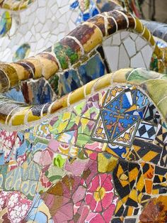 @PinFantasy - Park Güell, Gaudi, Barcelona ~~ For more:  - ✯ http://www.pinterest.com/PinFantasy/arq-~-antoni-gaud%C3%AD/