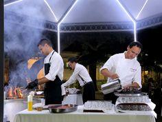"""Disfrutando de la cocina al aire libre en nuestra """"nuit"""""""
