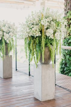 Amaranthus and White Delphinium Ceremony Accent