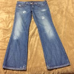 Spotted while shopping on Poshmark: Diesel Distresssed Wide Leg Jeans Size 29! #poshmark #fashion #shopping #style #Diesel #Denim
