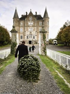 They're the adorably eccentric couple whose transformation of a derelict pile became a must-watch show. Here Dick and Angel give an exclusive peek at a typical family Christmas, château-style Angel Adoree, Angel Strawbridge, Scotland Castles, French Cottage, French Country, French Chateau, Medieval Castle, Country Estate, Travel Photography