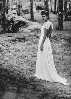 New white ivory wedding dress custom size 2-4-6-8- 1047535310d0