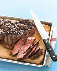 Father's Day Dessert Recipes  Grilled Sirloin Steak with Toppings Bar
