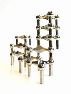 http://www.lerchedesign.dk/pages/visNyhed.asp?NewsGuid=86661&menuGuid= 27/04/2012  Den tyske arkitekt Fritz Nagel designede i 1965 en række stabelbare modulære lysestager under navnet Nagel S22.  Nagelstagerne blev produceret på BMF (Bayerische Metallfabrik) i 60'erne, og de sælges i dag som samlerobjekter verden over.    Nu er stagerne atter sat i produktion efter de originale tegninger med accept fra Nagel selv.