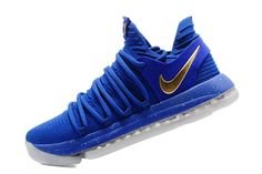New Arrival Nike Zoom KD 10 EP Royal Blue Gold 897816 600 Kevin Durant Mens Nike KD 10 Wholesale