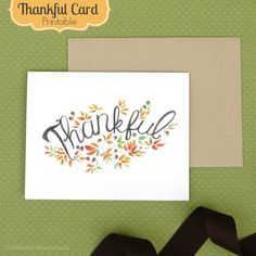 Thankful card free printable! #fall #card #printable