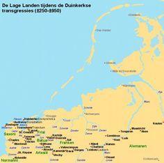 nederland; lage landen in de vroege middeleeuwen .