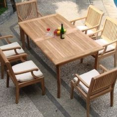 Outdoor Teak Furniture is Perfect For Your Outdoor Patio.  We have everything from Teak Lounges to Teak Dining Sets at Beachfront Decor.