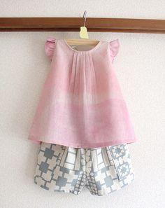nani IRO ruffle blouse and Stamped shorts : miss matatabi