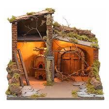Portal De Belen Con Una Caja De Carton Portal De Belen Con Cajas De Carton Portal De Belen De Pasta De Sal Portal Establo De Navidad Belenes Casas Para Belenes