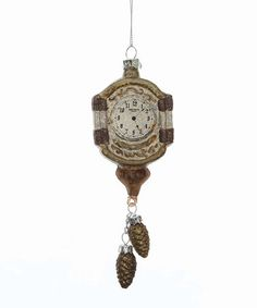 Look what I found on #zulily! Bronze & Gold Glass Clock Ornament #zulilyfinds