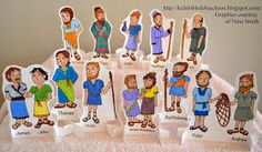 Disciples display with printable name tags for each