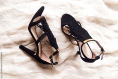 Chloe fringed suede sandals black