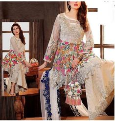 Excited to share this item from my shop: Heavy Embroidered Net Suit With Embroidery Chiffon Dupatta Designers Wear Pakistani Dresses Online Shopping, Online Dress Shopping, Casual Dresses, Fashion Dresses, Pakistani Wedding Outfits, Pakistani Couture, Kurti Designs Party Wear, Stylish Girl Pic, Desi Clothes