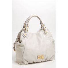 MARC BY MARC JACOBS 'Classic Q - Francesca' Leather Shopper found on Polyvore in Bone