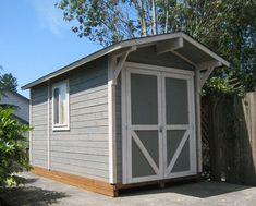 Custom Mighty Shed Painted to Match Home