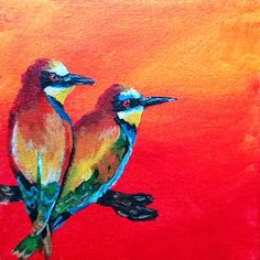 I am Samantha Vincent and I create things. Hand painted items in London, Ontario, Canada. Art - Painting and Drawings available to purchase as well as custom pieces Craft Items, Love Birds, Canvas Art, Hand Painted, Drawings, Crafts, Rainbow, Paintings, Animals