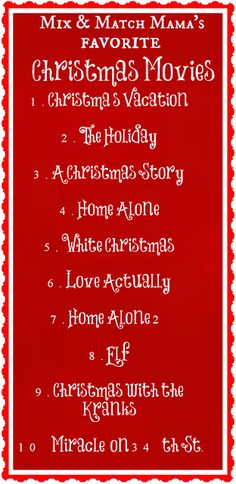 Mix and Match Mama's Favorite Christmas Movies
